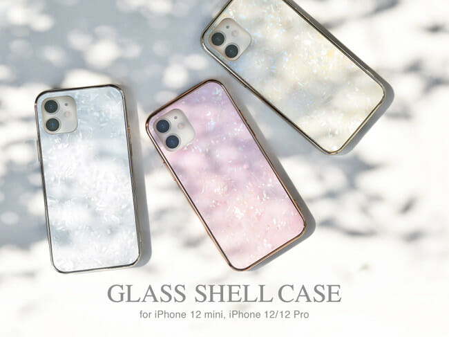 "iPhone12/iPhone12 Pro/iPhone12 miniに対応したUNiCASEオリジナルiPhoneケース""Glass Shell Case"""