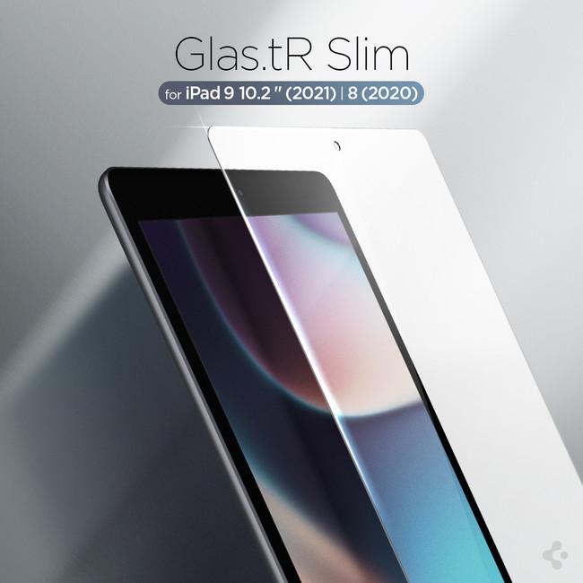 Spigen ガラスフィルム iPad 10.2 9世代 2021 / 8世代 2020 / 7世代 2019 用 保護 フィルム